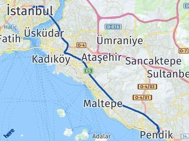 İstanbul Pendik Arası Kaç Km? Yol Haritası - Km Hesaplama Arası Kaç Km Saat? Nerede Yol Haritası Yakıt, Rota ve Mesafe Hesaplama