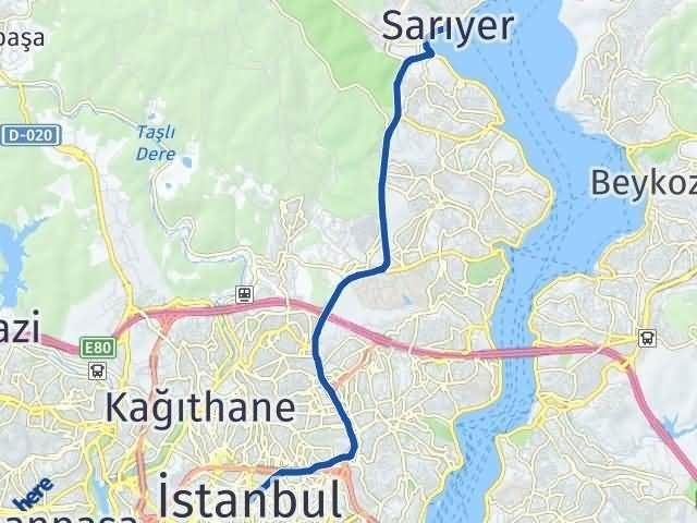 İstanbul Sarıyer Arası Kaç Km? Yol Haritası - Km Hesaplama Arası Kaç Km Saat? Nerede Yol Haritası Yakıt, Rota ve Mesafe Hesaplama