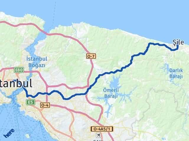 İstanbul Şile Arası Kaç Km? Yol Haritası - Km Hesaplama Arası Kaç Km Saat? Nerede Yol Haritası Yakıt, Rota ve Mesafe Hesaplama