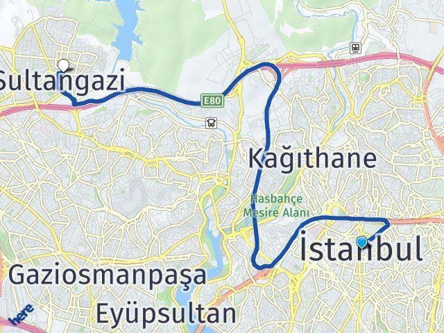 İstanbul Sultangazi Arası Kaç Km? Yol Haritası - Km Hesaplama Arası Kaç Km Saat? Nerede Yol Haritası Yakıt, Rota ve Mesafe Hesaplama