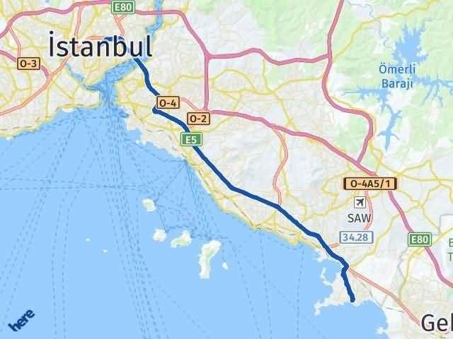 İstanbul Tuzla Arası Kaç Km? Yol Haritası - Km Hesaplama Arası Kaç Km Saat? Nerede Yol Haritası Yakıt, Rota ve Mesafe Hesaplama