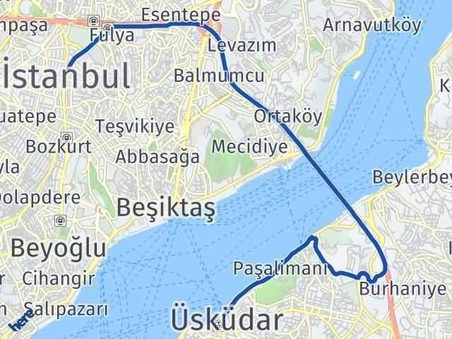 İstanbul Üsküdar Arası Kaç Km? Yol Haritası - Km Hesaplama Arası Kaç Km Saat? Nerede Yol Haritası Yakıt, Rota ve Mesafe Hesaplama