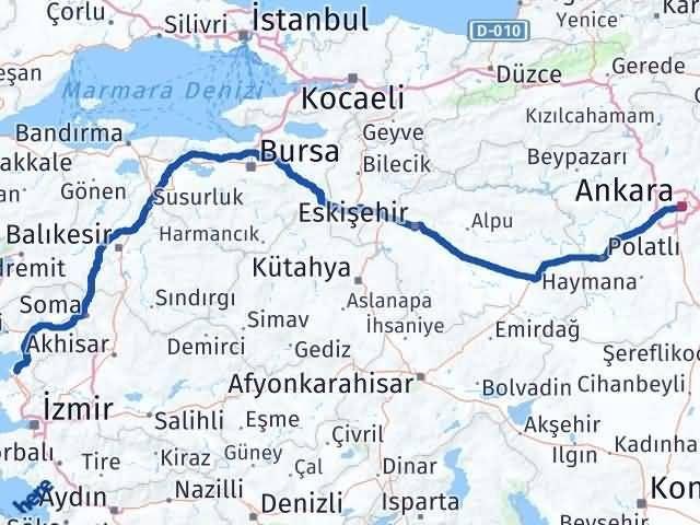 İzmir Aliağa   Ankara Arası Kaç Km? Arası Kaç Km Saat? Nerede Yol Haritası Yakıt, Rota ve Mesafe Hesaplama