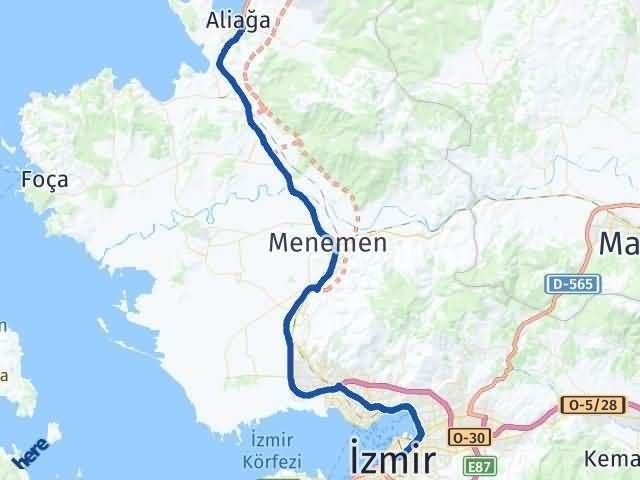 İzmir Aliağa Arası Kaç Km? Yol Haritası - Km Hesaplama Arası Kaç Km Saat? Nerede Yol Haritası Yakıt, Rota ve Mesafe Hesaplama