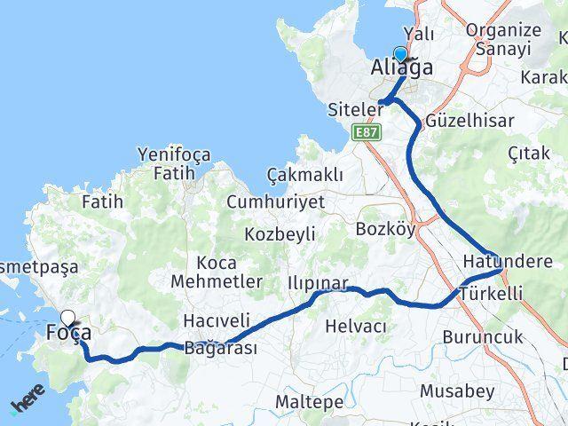 İzmir Aliağa Foça Arası Kaç Km? Kaç Saat? - Kmhesaplama.com Arası Kaç Km Saat? Nerede Yol Haritası Yakıt, Rota ve Mesafe Hesaplama
