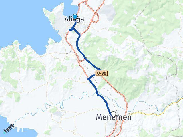 İzmir Aliağa Menemen Arası Kaç Km? Arası Kaç Km Saat? Nerede Yol Haritası Yakıt, Rota ve Mesafe Hesaplama