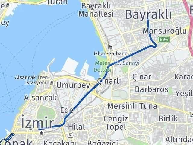 İzmir Bayraklı Arası Kaç Km? Yol Haritası - Km Hesaplama Arası Kaç Km Saat? Nerede Yol Haritası Yakıt, Rota ve Mesafe Hesaplama