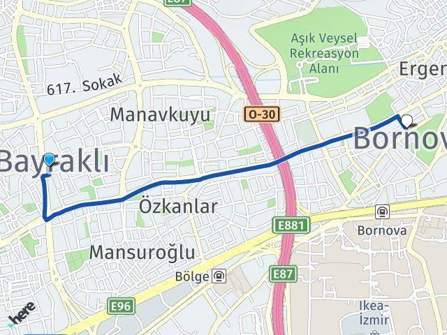 İzmir Bayraklı Bornova Arası Kaç Km? Arası Kaç Km Saat? Nerede Yol Haritası Yakıt, Rota ve Mesafe Hesaplama