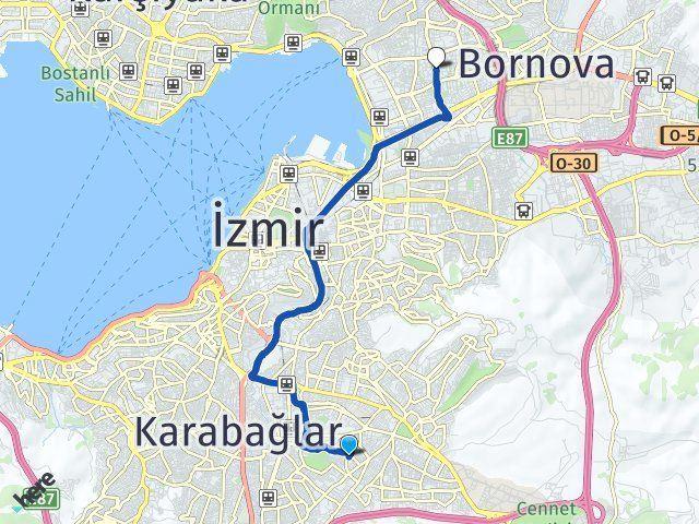 İzmir Buca Bayraklı Arası Kaç Km? Arası Kaç Km Saat? Nerede Yol Haritası Yakıt, Rota ve Mesafe Hesaplama