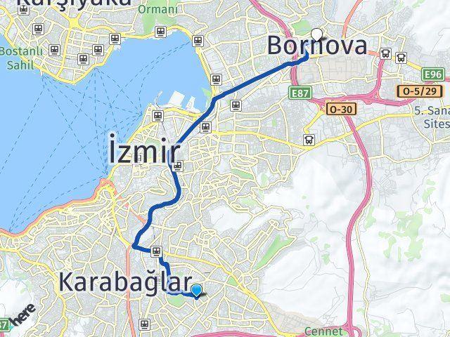 İzmir Buca Bornova Arası Kaç Km? Arası Kaç Km Saat? Nerede Yol Haritası Yakıt, Rota ve Mesafe Hesaplama