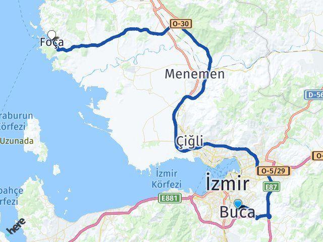 İzmir Buca Foça Arası Kaç Km? Kaç Saat? - Kmhesaplama.com Arası Kaç Km Saat? Nerede Yol Haritası Yakıt, Rota ve Mesafe Hesaplama