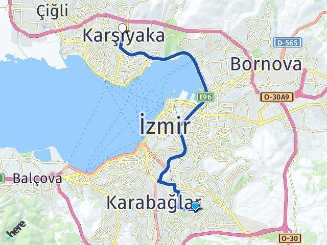 İzmir Buca Karşıyaka Arası Kaç Km? Arası Kaç Km Saat? Nerede Yol Haritası Yakıt, Rota ve Mesafe Hesaplama