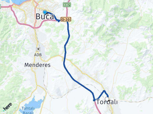 İzmir Buca Torbalı Arası Kaç Km? Arası Kaç Km Saat? Nerede Yol Haritası Yakıt, Rota ve Mesafe Hesaplama