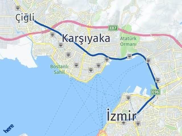 İzmir Çiğli Arası Kaç Km? Yol Haritası - Km Hesaplama Arası Kaç Km Saat? Nerede Yol Haritası Yakıt, Rota ve Mesafe Hesaplama
