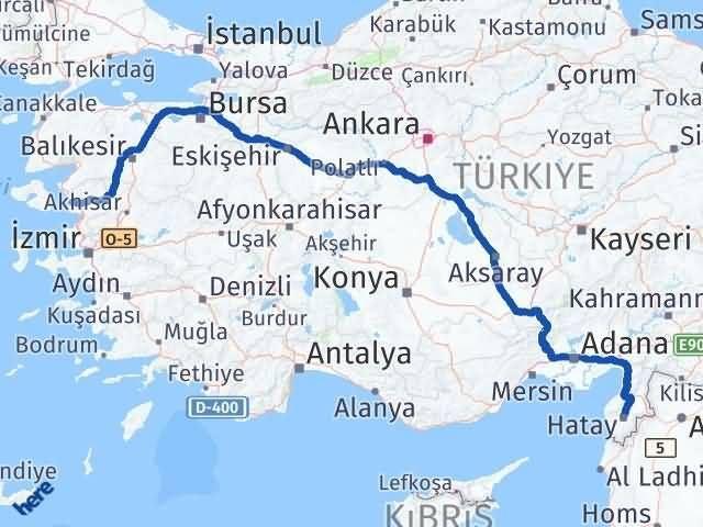 İzmir Dikili Hatay Arası Kaç Km? Arası Kaç Km Saat? Nerede Yol Haritası Yakıt, Rota ve Mesafe Hesaplama