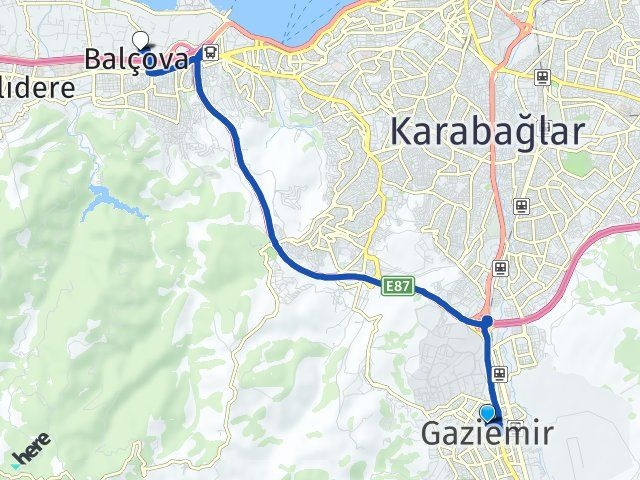 İzmir Gaziemir Balçova Arası Kaç Km? Arası Kaç Km Saat? Nerede Yol Haritası Yakıt, Rota ve Mesafe Hesaplama