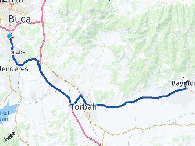 İzmir Gaziemir Bayındır Arası Kaç Km? Arası Kaç Km Saat? Nerede Yol Haritası Yakıt, Rota ve Mesafe Hesaplama