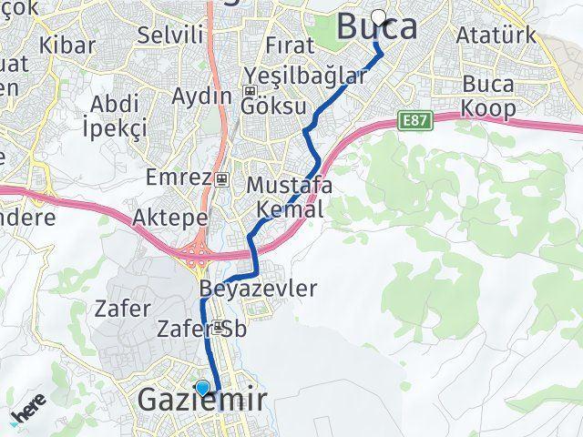 İzmir Gaziemir Buca Arası Kaç Km? Arası Kaç Km Saat? Nerede Yol Haritası Yakıt, Rota ve Mesafe Hesaplama