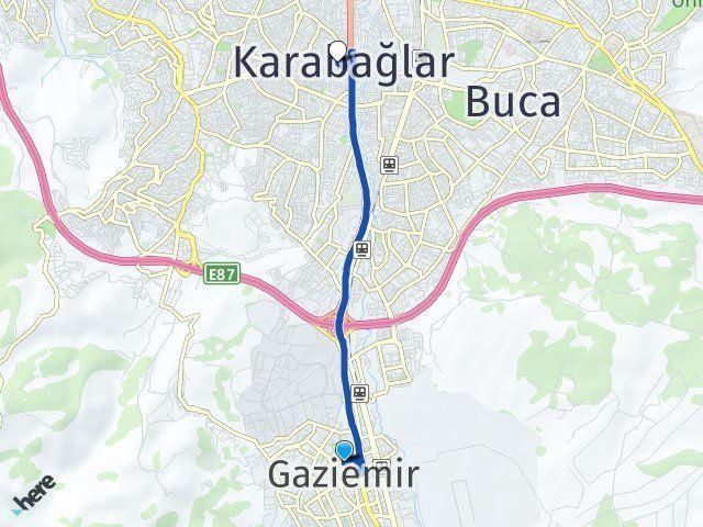 İzmir Gaziemir Karabağlar Arası Kaç Km? Arası Kaç Km Saat? Nerede Yol Haritası Yakıt, Rota ve Mesafe Hesaplama