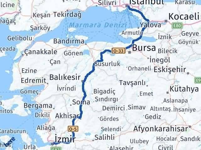 İzmir İstanbul Arası Kaç Km - Kaç Saat? Arası Kaç Km Saat? Nerede Yol Haritası Yakıt, Rota ve Mesafe Hesaplama