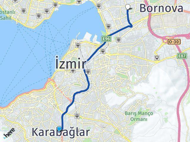 İzmir Karabağlar Bayraklı Arası Kaç Km? Arası Kaç Km Saat? Nerede Yol Haritası Yakıt, Rota ve Mesafe Hesaplama