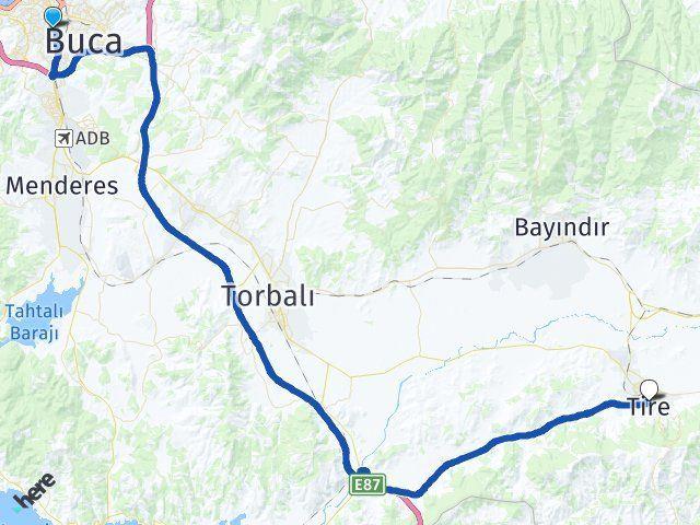 İzmir Karabağlar Tire Arası Kaç Km? Arası Kaç Km Saat? Nerede Yol Haritası Yakıt, Rota ve Mesafe Hesaplama