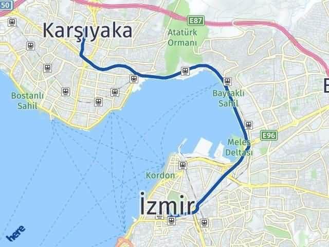 İzmir Karşıyaka Arası Kaç Km? Yol Haritası - Km Hesaplama Arası Kaç Km Saat? Nerede Yol Haritası Yakıt, Rota ve Mesafe Hesaplama