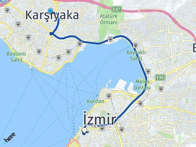İzmir Karşıyaka Konak Arası Kaç Km? Arası Kaç Km Saat? Nerede Yol Haritası Yakıt, Rota ve Mesafe Hesaplama