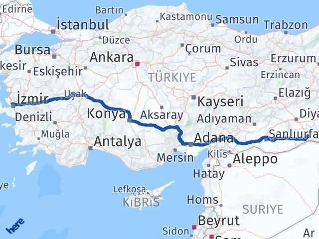 İzmir Karşıyaka   Mardin Arası Kaç Km? Arası Kaç Km Saat? Nerede Yol Haritası Yakıt, Rota ve Mesafe Hesaplama