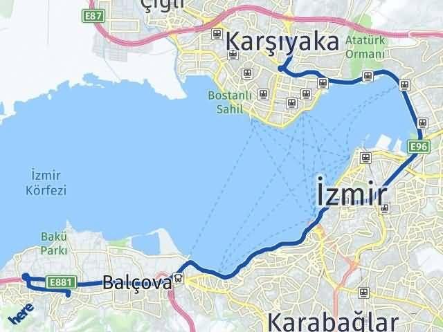 İzmir Karşıyaka Narlıdere Arası Kaç Km? Arası Kaç Km Saat? Nerede Yol Haritası Yakıt, Rota ve Mesafe Hesaplama