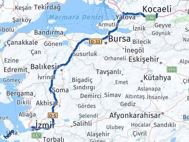 İzmir Karşıyaka   Sakarya Arası Kaç Km? Arası Kaç Km Saat? Nerede Yol Haritası Yakıt, Rota ve Mesafe Hesaplama
