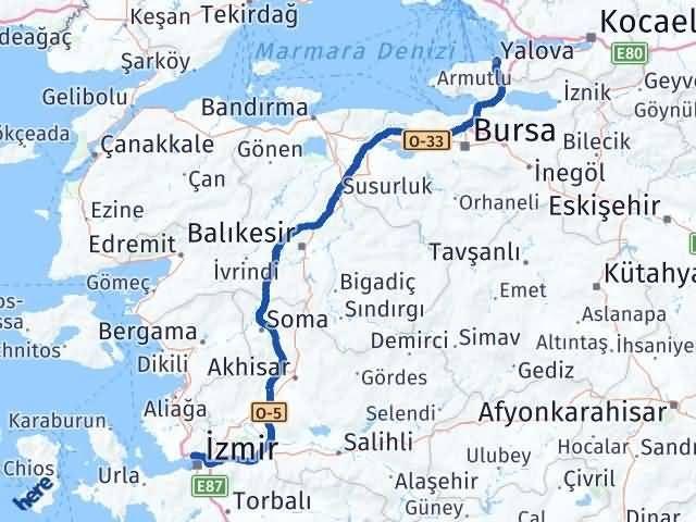 İzmir Karşıyaka   Yalova Arası Kaç Km? Arası Kaç Km Saat? Nerede Yol Haritası Yakıt, Rota ve Mesafe Hesaplama