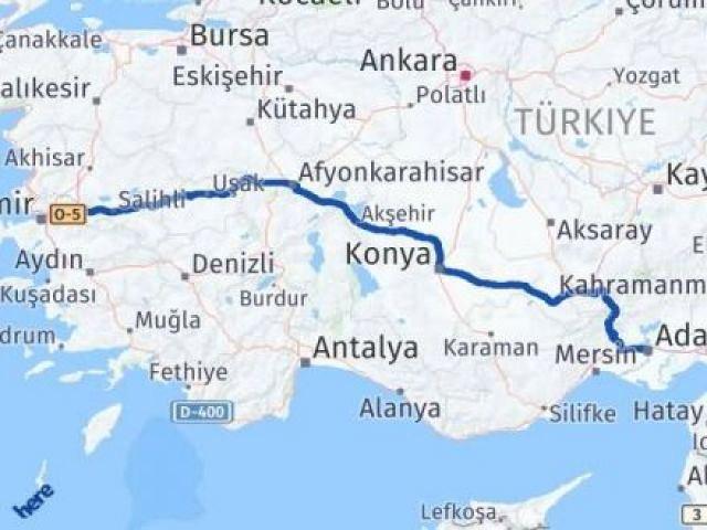 İzmir Kemalpaşa   Adana Arası Kaç Km? Arası Kaç Km Saat? Nerede Yol Haritası Yakıt, Rota ve Mesafe Hesaplama