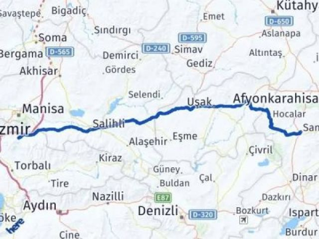 İzmir Kemalpaşa   Afyon Arası Kaç Km? Arası Kaç Km Saat? Nerede Yol Haritası Yakıt, Rota ve Mesafe Hesaplama