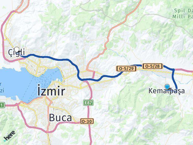 Kemalpaşa İzmir Çiğli Arası Kaç Km? Arası Kaç Km Saat? Nerede Yol Haritası Yakıt, Rota ve Mesafe Hesaplama