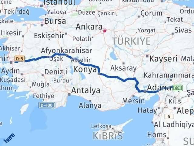 İzmir Kemalpaşa   Gaziantep Arası Kaç Km? Arası Kaç Km Saat? Nerede Yol Haritası Yakıt, Rota ve Mesafe Hesaplama