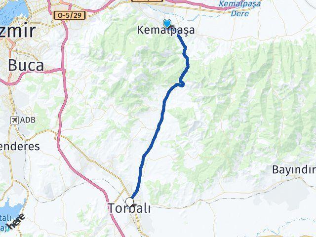 Kemalpaşa İzmir Torbalı Arası Kaç Km? Arası Kaç Km Saat? Nerede Yol Haritası Yakıt, Rota ve Mesafe Hesaplama
