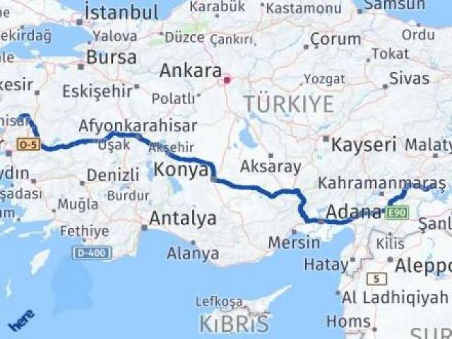 İzmir Kınık   Adıyaman Arası Kaç Km? Arası Kaç Km Saat? Nerede Yol Haritası Yakıt, Rota ve Mesafe Hesaplama