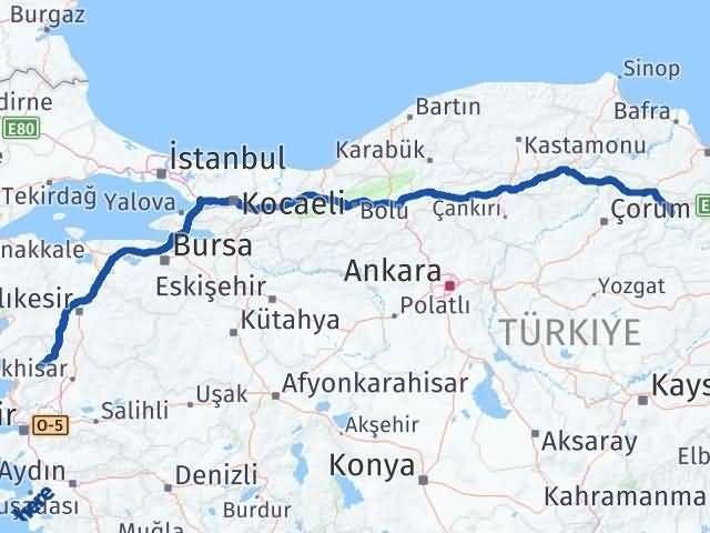 İzmir Kınık   Amasya Arası Kaç Km? Arası Kaç Km Saat? Nerede Yol Haritası Yakıt, Rota ve Mesafe Hesaplama