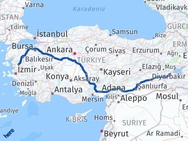İzmir Kınık   Bitlis Arası Kaç Km? Arası Kaç Km Saat? Nerede Yol Haritası Yakıt, Rota ve Mesafe Hesaplama