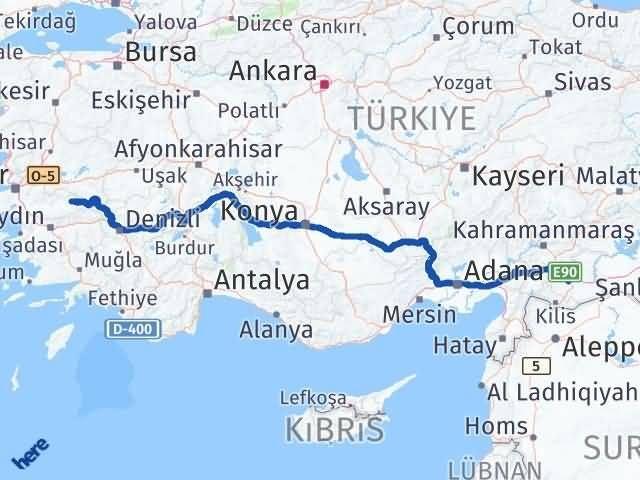 İzmir Kiraz   Gaziantep Arası Kaç Km? Arası Kaç Km Saat? Nerede Yol Haritası Yakıt, Rota ve Mesafe Hesaplama