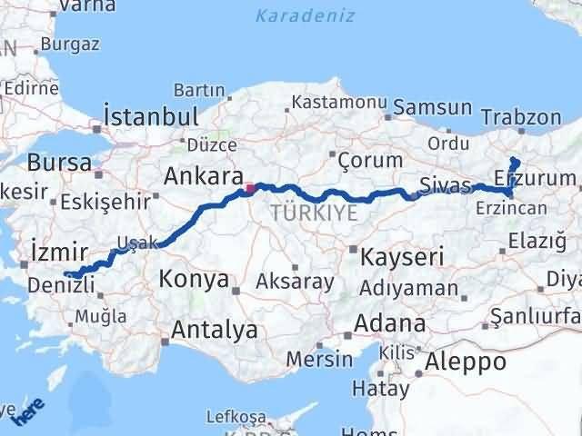 İzmir Kiraz   Gümüşhane Arası Kaç Km? Arası Kaç Km Saat? Nerede Yol Haritası Yakıt, Rota ve Mesafe Hesaplama