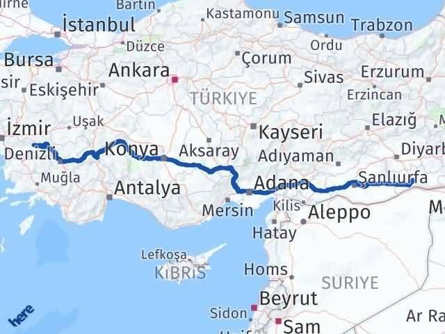İzmir Kiraz   Mardin Arası Kaç Km? Arası Kaç Km Saat? Nerede Yol Haritası Yakıt, Rota ve Mesafe Hesaplama