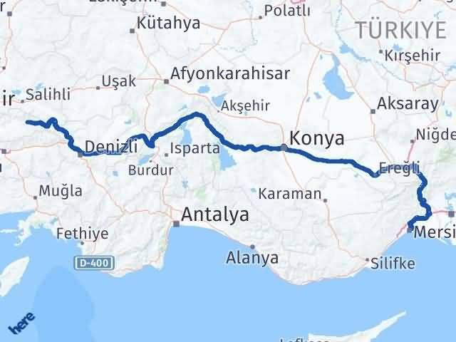 İzmir Kiraz   Mersin Arası Kaç Km? Arası Kaç Km Saat? Nerede Yol Haritası Yakıt, Rota ve Mesafe Hesaplama