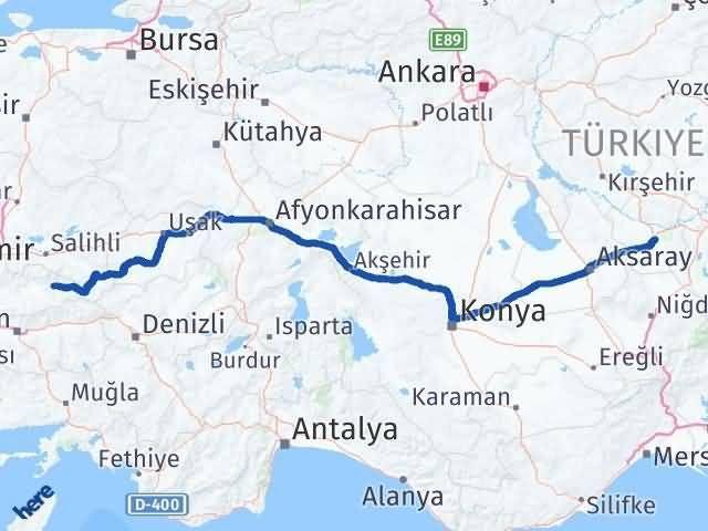 İzmir Kiraz   Nevşehir Arası Kaç Km? Arası Kaç Km Saat? Nerede Yol Haritası Yakıt, Rota ve Mesafe Hesaplama