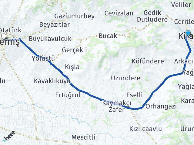 İzmir Kiraz Ödemiş Arası Kaç Km? Arası Kaç Km Saat? Nerede Yol Haritası Yakıt, Rota ve Mesafe Hesaplama