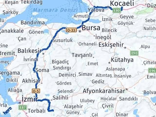 İzmir Kiraz   Sakarya Arası Kaç Km? Arası Kaç Km Saat? Nerede Yol Haritası Yakıt, Rota ve Mesafe Hesaplama