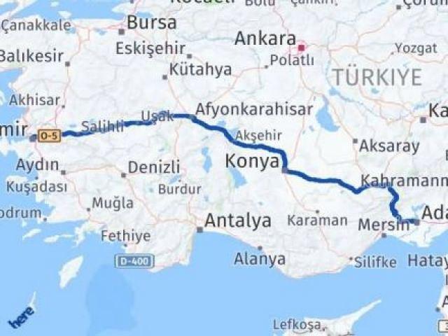 İzmir Konak   Adana Arası Kaç Km? Arası Kaç Km Saat? Nerede Yol Haritası Yakıt, Rota ve Mesafe Hesaplama