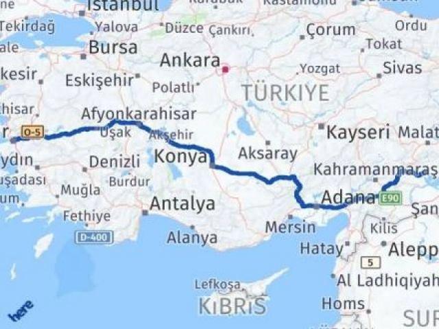 İzmir Konak   Adıyaman Arası Kaç Km? Arası Kaç Km Saat? Nerede Yol Haritası Yakıt, Rota ve Mesafe Hesaplama