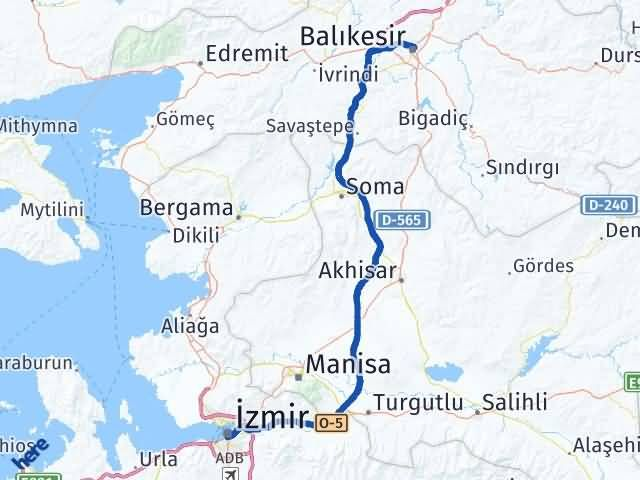 İzmir Konak   Balıkesir Arası Kaç Km? Arası Kaç Km Saat? Nerede Yol Haritası Yakıt, Rota ve Mesafe Hesaplama